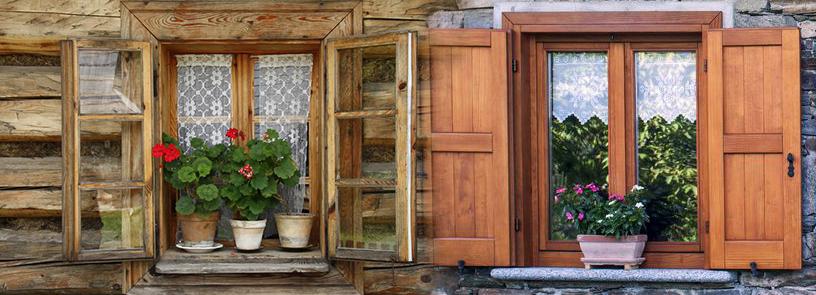 Riparazione restauro porte finestre in legno - Scuri per finestre ...